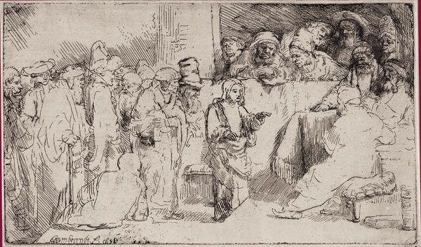 BNF - Rembrandt -  L'Adoration des bergers à la lanterne Vers 1652 Eau-forte, pointe sèche et burin. 148 x 198 mm Huit états