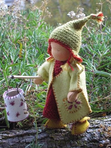yarn and felt doll