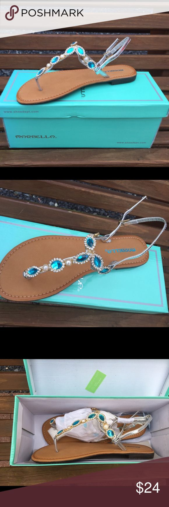 Marbella Downtown Turquoise Sandals Size 7 Size 7. New in the box. Marbella Shoes Sandals