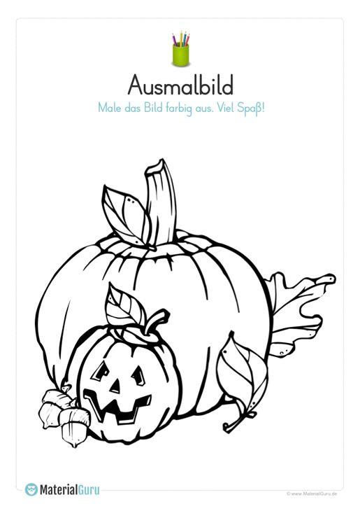 Ein Kostenloses Arbeitsblatt Zu Halloween Auf Dem Die Schuler Einen Kurbis Ausmalen Sollen Jetzt Herbst Ausmalvorlagen Malvorlagen Halloween Malbuch Vorlagen