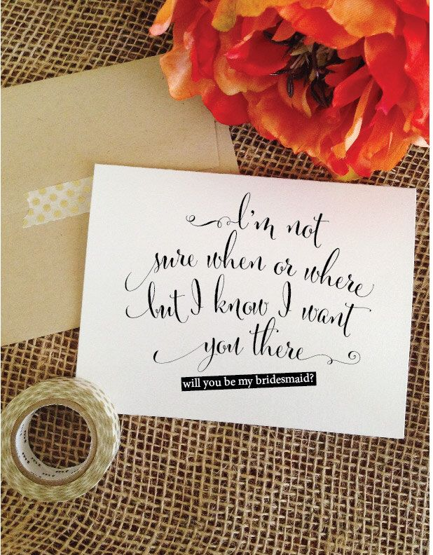 Will you be my bridesmaid Invitations Wedding Card Asking Bridesmaid Cards Bridesmaid Proposal Card (Stylish) by WeddingAffections on Etsy https://www.etsy.com/listing/208061716/will-you-be-my-bridesmaid-invitations