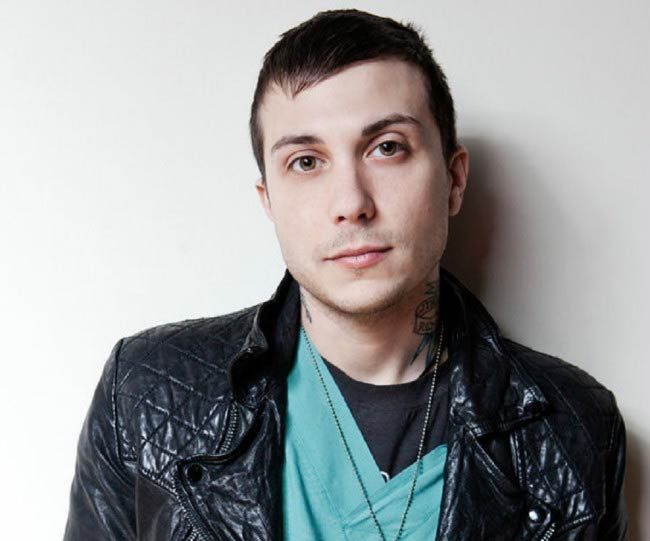 Frank Iero in a modeling photoshoot done in 2015...
