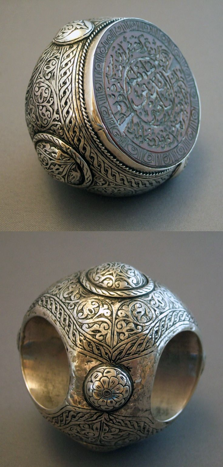 Iran - Silver and engraved carnelian seal ring
