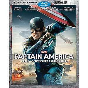 Disney Captain America: The Winter Soldier Blu-ray 3-D Combo Pack | Disney StoreCaptain America: The Winter Soldier Blu-ray 3-D Combo Pack - Marvel's global phenomenon <i>Captain America: The Winter Soldier</i>, teams Captain America with the Black Widow and a new ally, the Falcon, in a fight for the future of mankind.