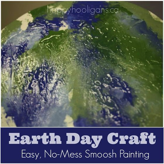 Smoosh-Painting: an Earth Day Craft for Kids