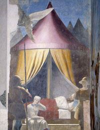PIERO DELLA FRANCESCA, particolare Storie della vera croce, Firenze