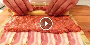 Sajtot és darált húst teker a baconbe, majd megsüti- Nagyon ínyenc menünek tűnik! | Ezt nézd