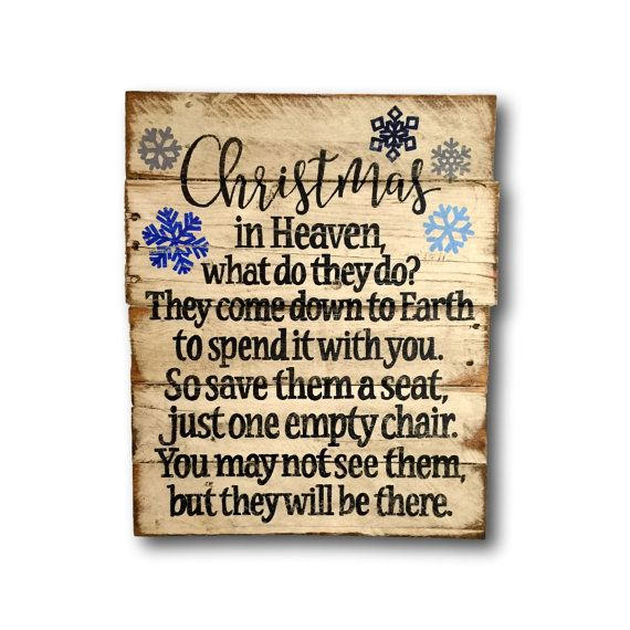 Christmas In Heaven Wall Hanging/ Christmas by PalletsandPaint