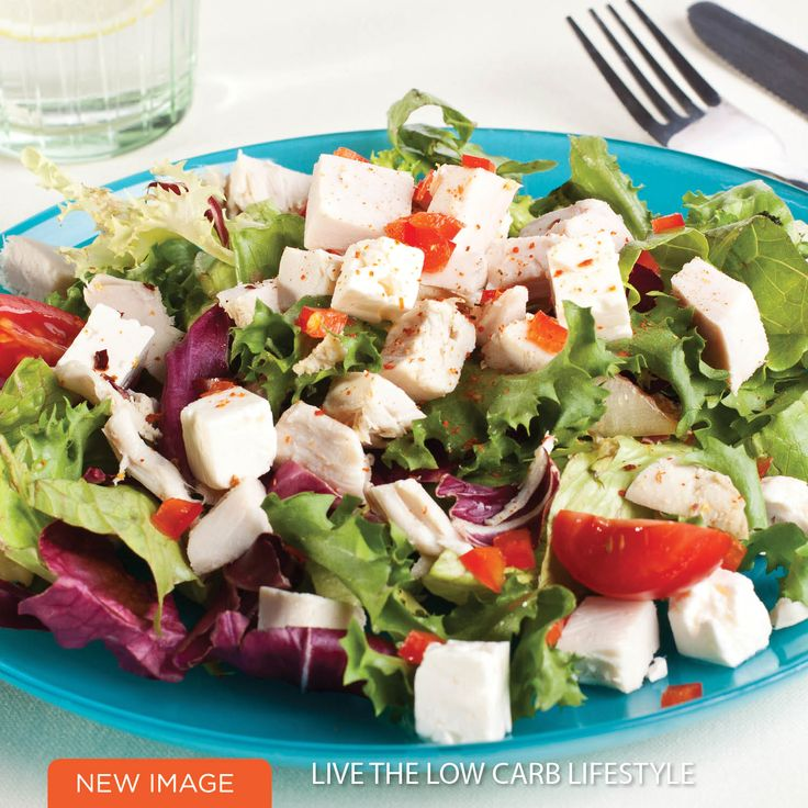 Chicken, Tomato, Lemon & Feta Salad - amazing low carb, quick & easy and so tasty!