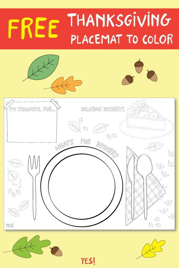 Printable Thanksgiving Placemat To Color Yes We Made This Thanksgiving Placemats Preschool Thanksgiving Placemats Thanksgiving Activities
