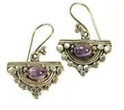 Stirling Silver Earrings - Amethyst semi precious stone  $24.00
