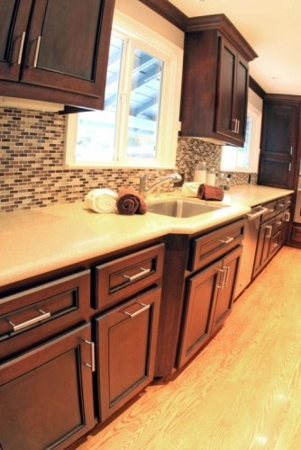 Cabinet and countertop color... along with a floor similar to ours
