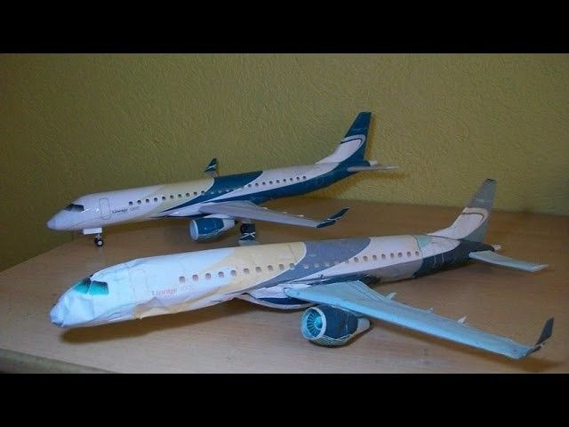 Embraer Lineage 1000 Papercraft (Remake)
