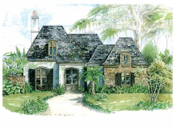 Home plan homepw18235 is a gorgeous 2133 sq ft 1 story 3 for Two story french country house plans