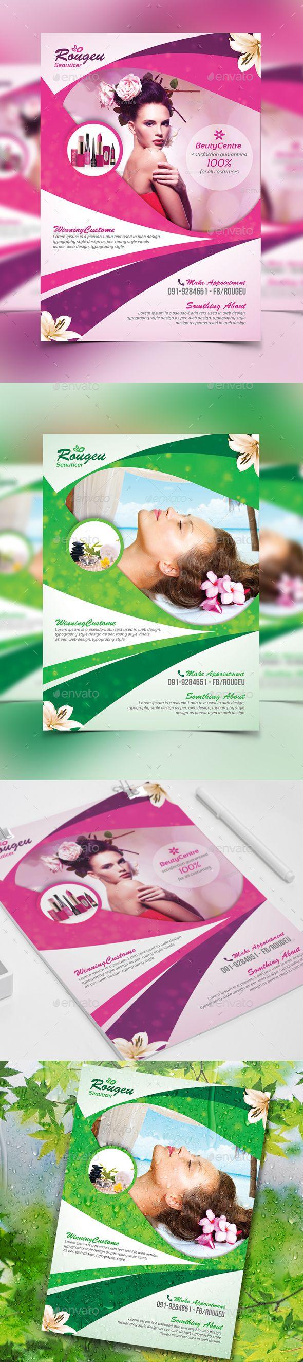 Beauty Salon Spa - Flyer Template PSD #design Download: http://graphicriver.net/item/beauty-salon-spa-flyer/13931580?ref=ksioks