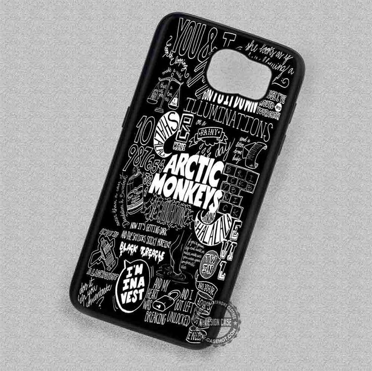 Arctic Monkeys Collage White Lyric - Samsung Galaxy S7 S6 S5 Note 7 Cases & Covers