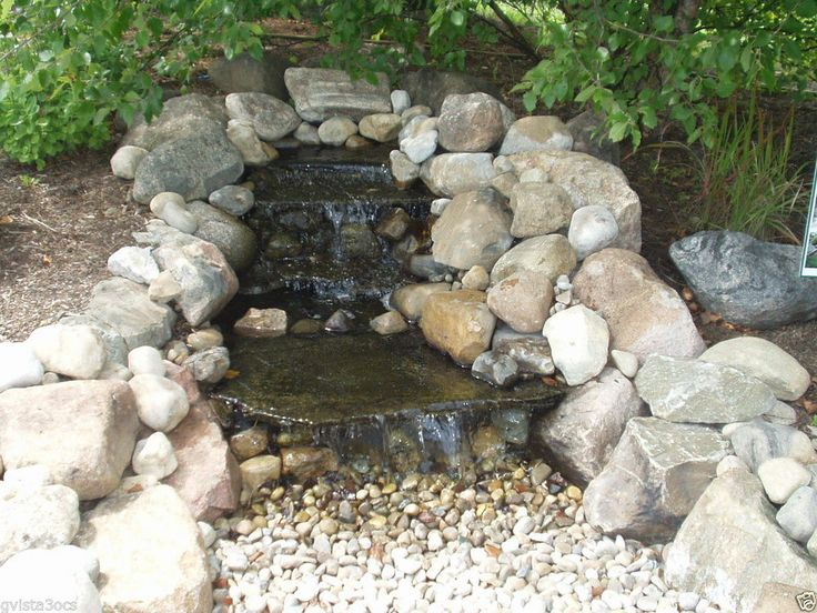 21 best images about rock water fall dry on pinterest for Diy pond liner ideas