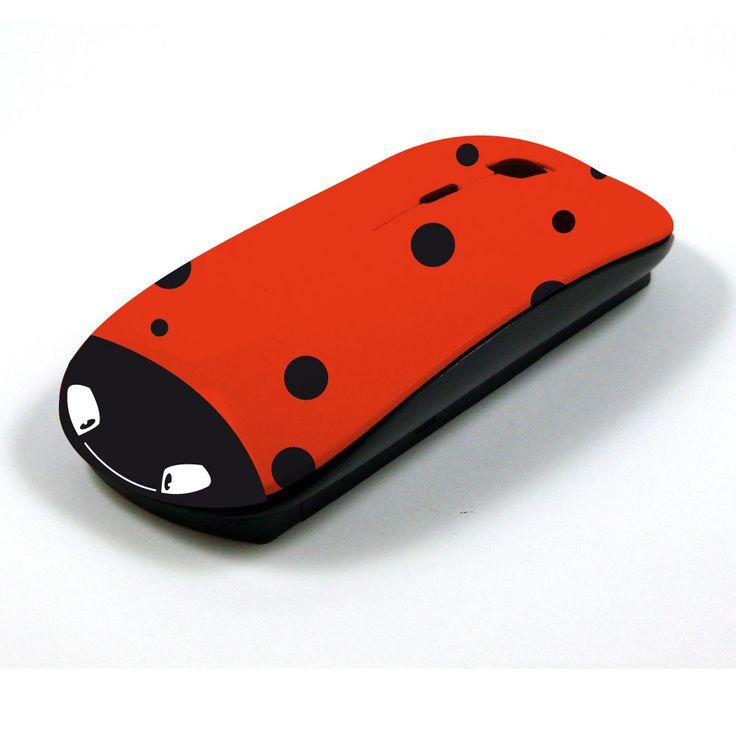 souris d 39 ordinateur sans fil coccinelle wireless mouse designs pinterest. Black Bedroom Furniture Sets. Home Design Ideas