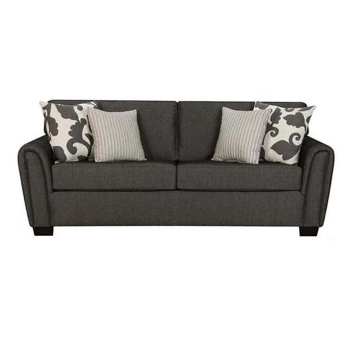 Leather Sectional Sofa Contemporary Gray Sofa with Tapered Roll Arms Nebraska Furniture Mart