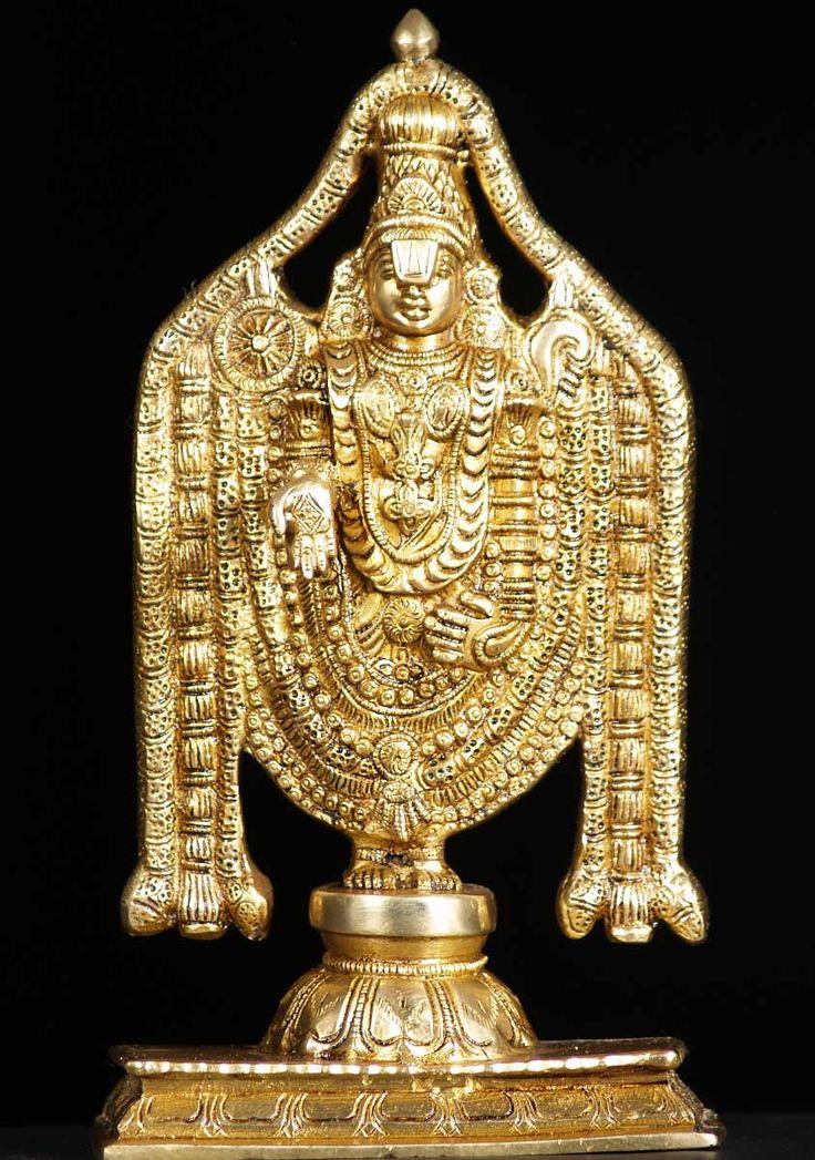"View the Brass Vishnu Balaji Statue 11"""
