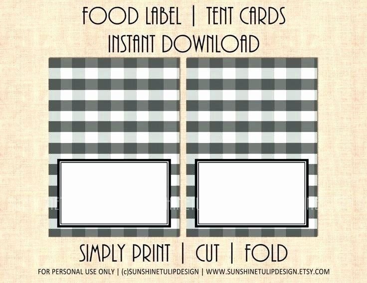 Large Tent Card Template Unique Tent Card Template Inspirational Food Labels Card Templates Free Tent Cards Card Template