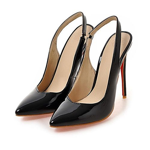 Womens Shoes PU Spring Summer Comfort Novelty Heels High Heel Pointed Toe  for Wedding Party  Evening White Black Almond