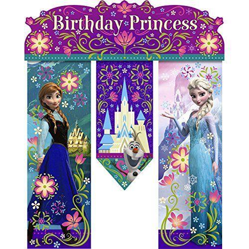 Disney Frozen Birthday Banner - Birthday Party Supplies H