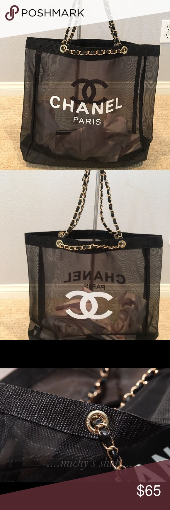 Chanel Mesh Tote Shopping bag VIP gift New Auth Chanel