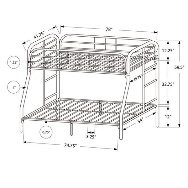 Metal Bunk Beds Twin Over Double Metal Bunk Beds Bunk Beds