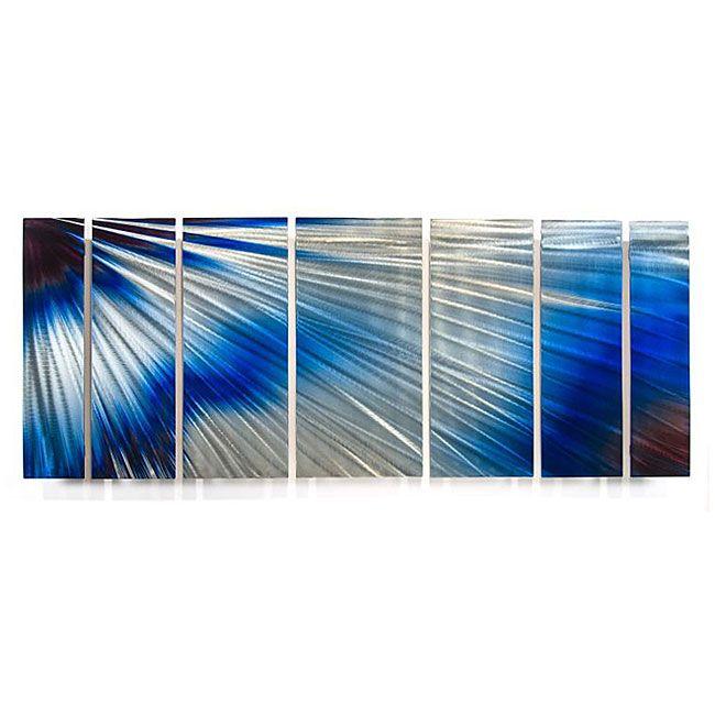 ALL MY WALLS Ash Carl 'Brightness' 7-panel Abstract Metal Wall Art