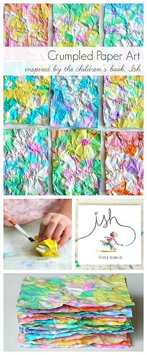 Crumpled Paper Art Activity for Kids inspired by the children's book, Ish! Super…