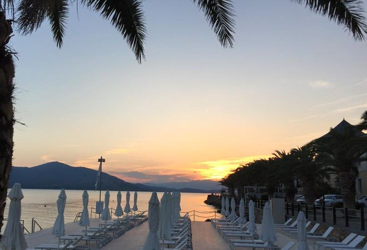 Enjoy the amazing #sunset in front of the deck! #ThermaeSylla #moments