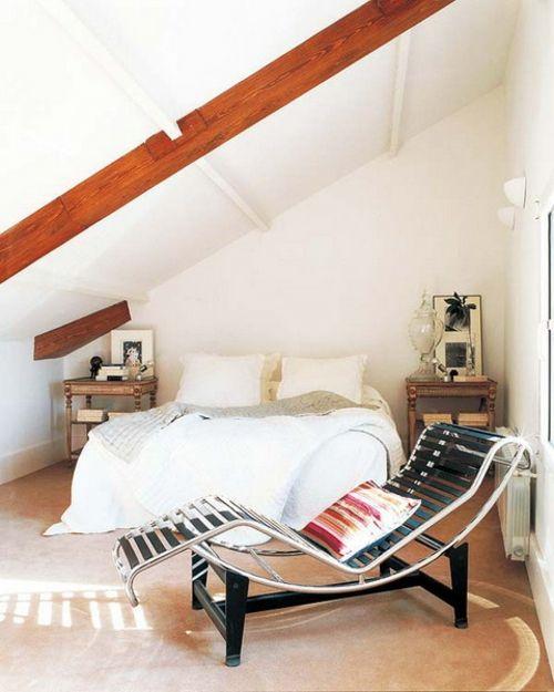 Wohnung einrichten u2013 Wohnideen für Zimmer mit Dachschräge - innendesign aus polen femininer note