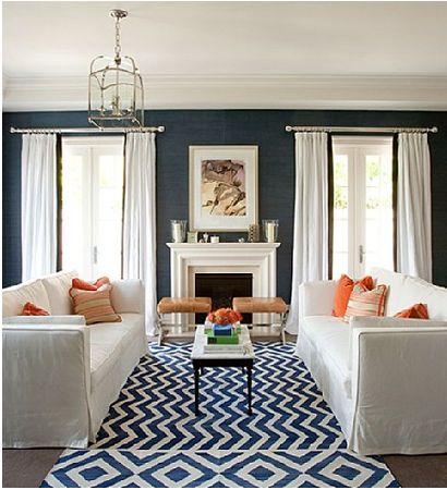 Blue orange living room ideas pinterest for Orange and blue living room ideas