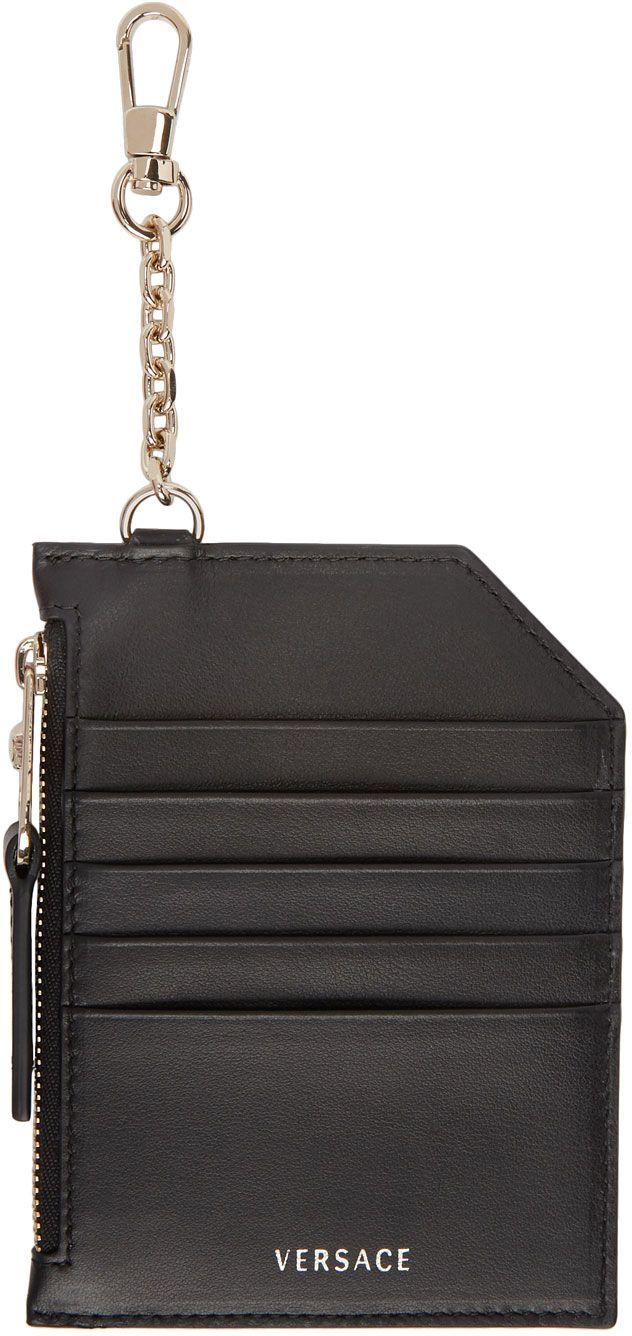 80ccb975af3 Versace Black Multi Card Holder