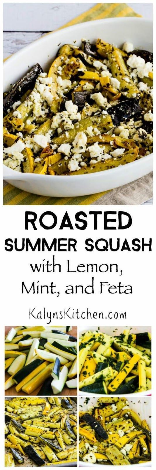 Grab some fresh mint and make this Roasted Summer Squash with Lemon, Mint, and…