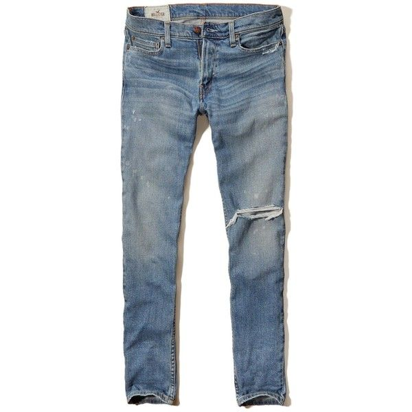 Hollister Super Skinny Jeans Guys (92 PEN) ❤ liked on Polyvore