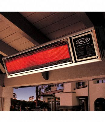 """DCS 48"""" Built-in Natural Gas Patio Heater with 58,000 BTUs/hr in Brushed Stainless Steel DRH48N at appliancesconnection.com. DCS offers an infrared mounted patio heater that hooks up to a natural gas line. It is constructed of quality stainless steel that provides a weatherproof exterior. #heater #mounted #stylish"""