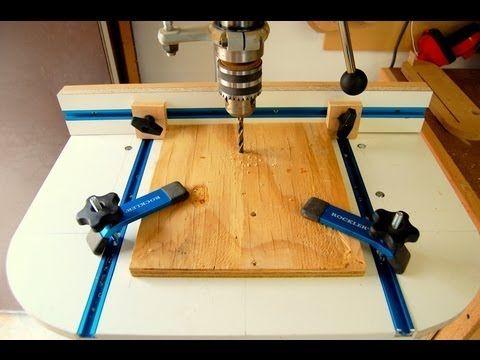 Hur man gör ett PELARBORR  BORD.  STATIV BORR BORD   BESKRIVNING VIDEO    How to build this DRILL PRESS TABLE TUTORIAL