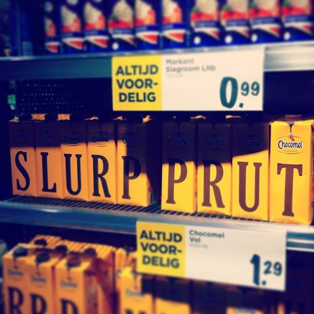 Slurp prut ook wel #chocomel genoemd!
