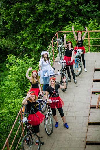 Девичник для самых активных. Девичник на велосипедах #велопробег #велодевичник #kvantil-event