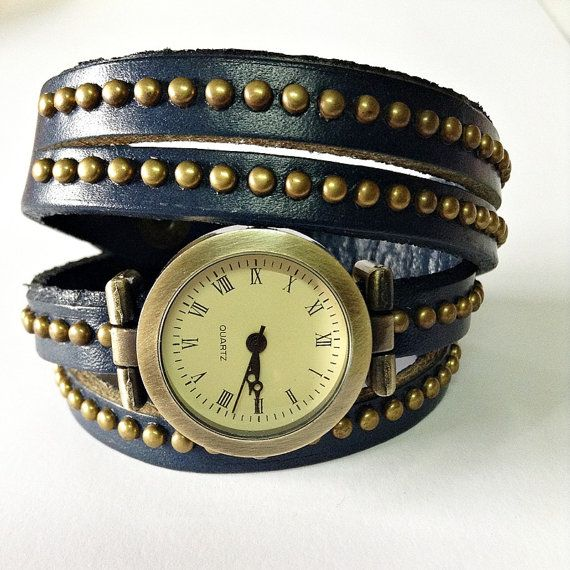 Wrap Watch Vintage Style Genuine Leather Watch Women