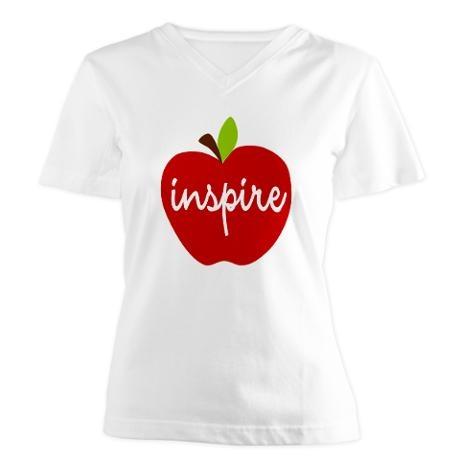 Inspire Apple Women's V-Neck T-Shirt