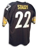Autographed Duce Staley Steelers Black Throwback Jersey