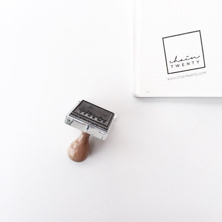 branding ideas: custom made logo stamps » Chain Twenty stamp by Stamp It Store