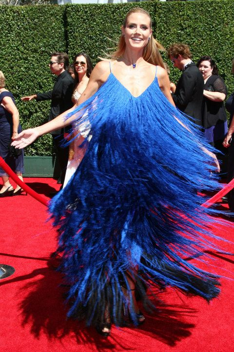 Heidi Klum's dress: Totally gorgeous or reminds you of a car wash?