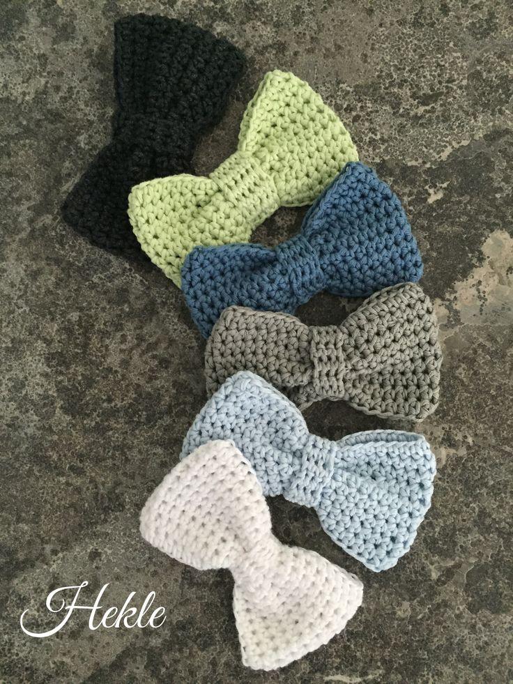 Crochet bow Grey & co