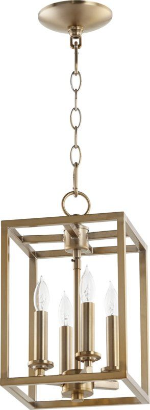 Cuboid entry 4 light foyer pendant