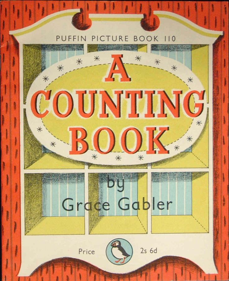 front cover of A COUNTING BOOK, Author and Illustrator: Grace Gabler, 1957, a Puffin Picture Book Reminds me very much of Emily Sutton....