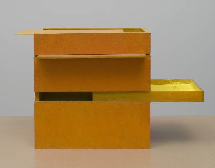 B11 Box Bólide 09 1964, Oil on wood and glass, pigment, object: 498 x 500 x 340 mm Purchased with assistance from the American Fund for the Tate Gallery, Tate Members and the Art Fund 2007© Projeto Hélio Oiticica